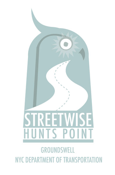 The StreetWise: Hunts Point logo features an owl stylized with a street through its body.