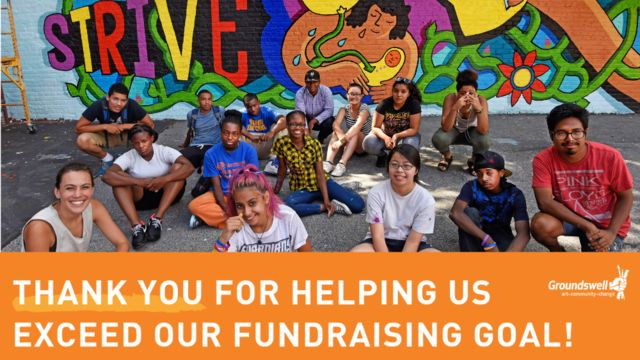 Thank you for helping us exceed our goal!