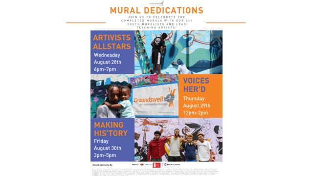 Summer Leadership Institute (SLI) Mural Dedication Invite