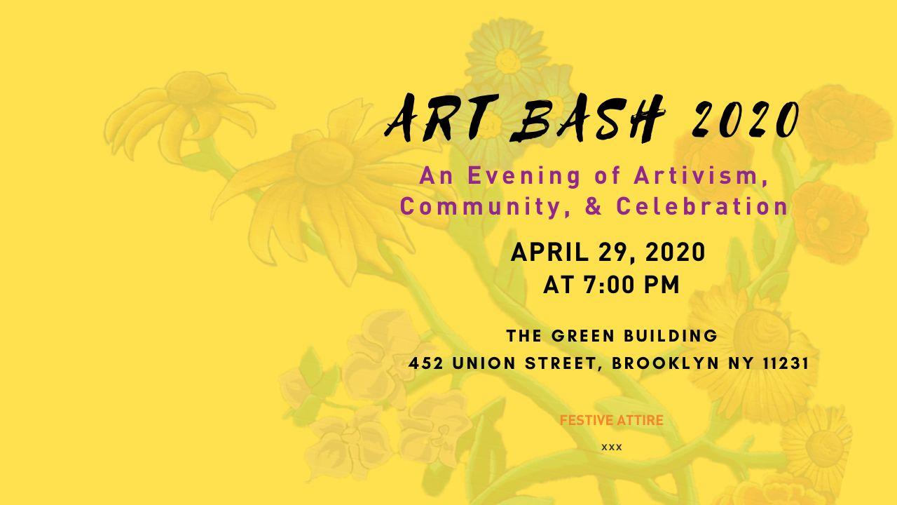 Art Bash 2020 Front of site billboard image